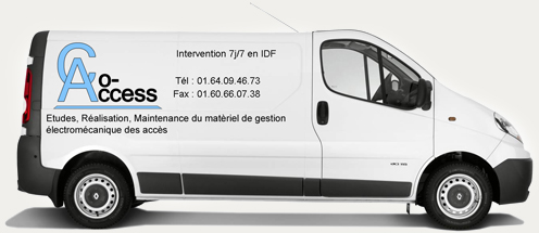 Camion technicien automatisme porte & contrôle d'accès – Co Access