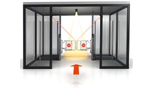 Porte automatique magasin et commerce